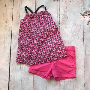 Faded Glory pink shorts and Gymboree shirt